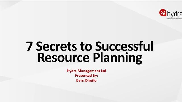 7 secrets to successful resource planning