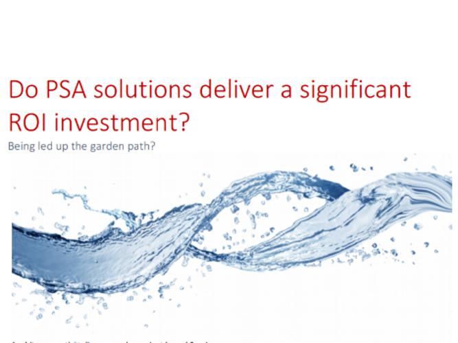 do psa solutions deliver a significant return on investment?
