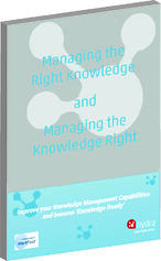 Cover of managing the right knowledge and managing the knowledge right