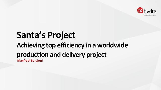 Achieving top efficiency in a worldwide production and delivery project