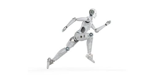 Running  robot man image