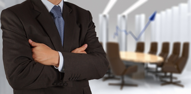 Senior manager in boardroom