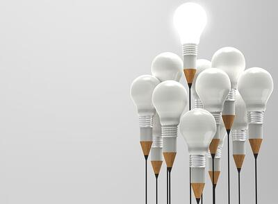 drawing idea pencil and light bulb concept outside the box as creative and leadership concept-1-1