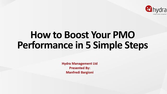 How to boost your PMO performance