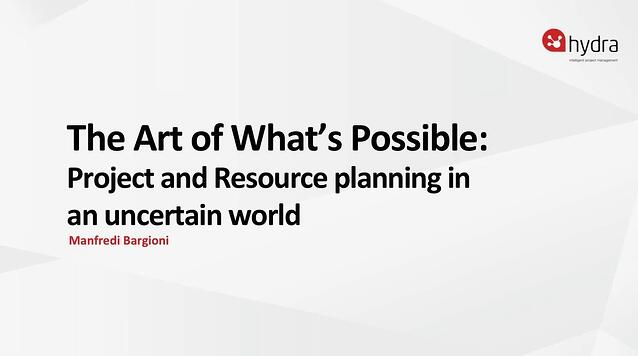 Project and resource planning in an uncertain world
