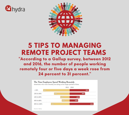 Infographic: How to Manage Remote Project Teams Effectively
