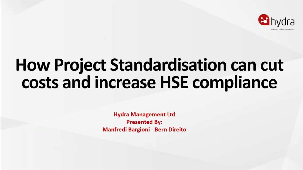 Project Standardisation