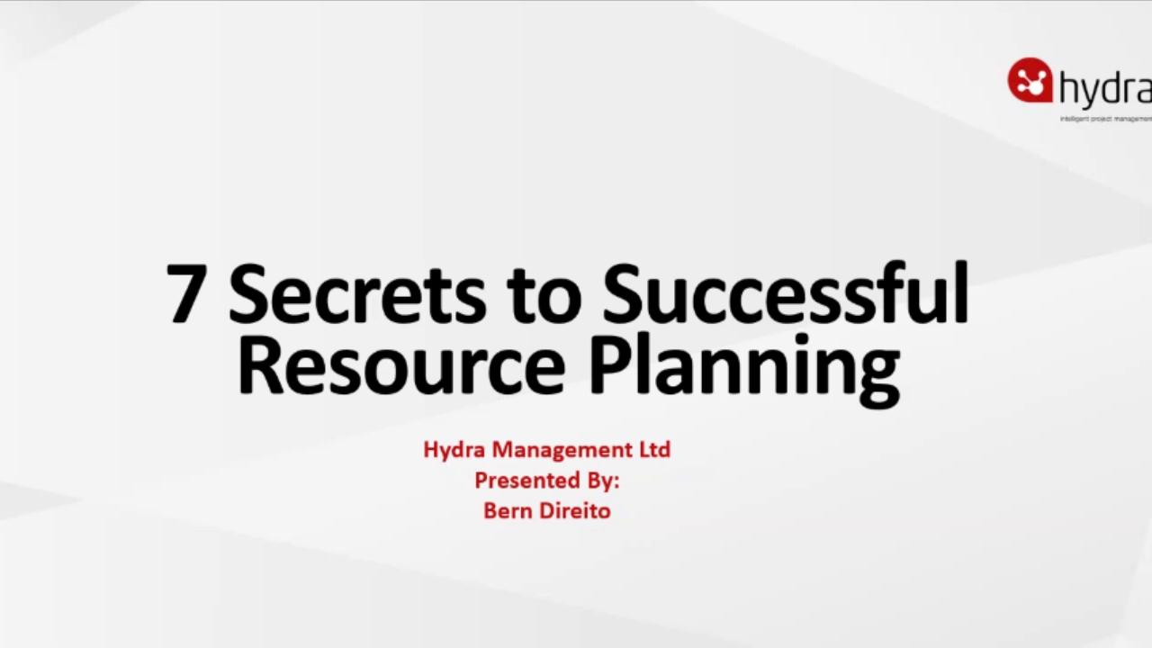 7 Resource Planning Secrets