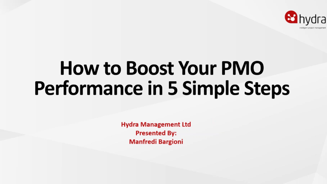Boost Your PMO in 5 Steps