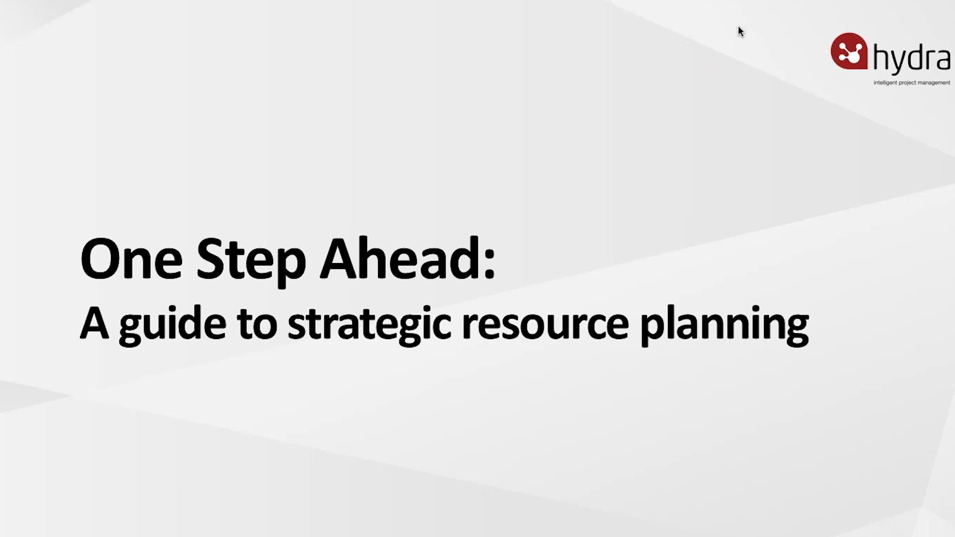 A Guide to Strategic Resource Planning