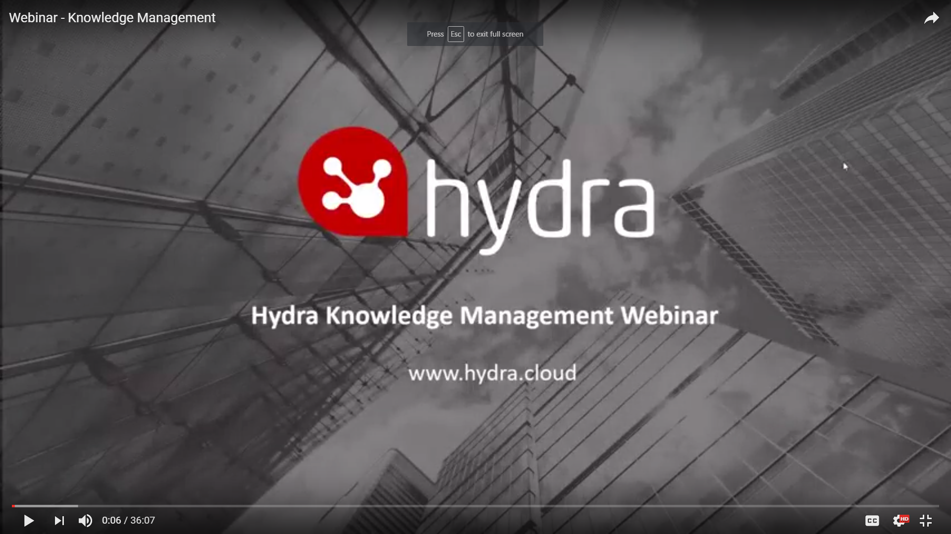 Knowledge Management Webinar